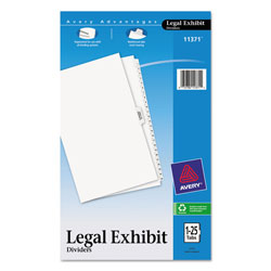Avery Legal Side Tab Dividers, 1-25 & Table of Contents, White