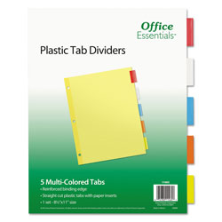 Avery Index Maker Translucent Multi Label Dividers, Multicolor