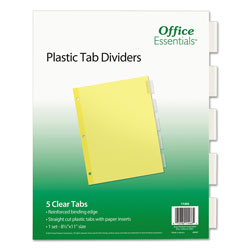 Avery Plastic Insertable Dividers, 5-Tab, Letter