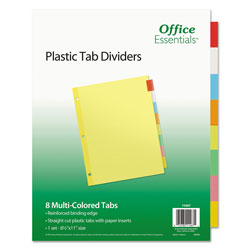Avery Office Essentials Economy Insertable Label Dividers, 8-Tab, Multicolor