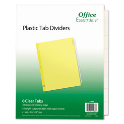 Avery Office Essentials Economy Insertable Label Dividers, 8-Tab, Clear