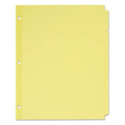 Avery Plain Tab Write-On Dividers, 5-Tab, 36 Sets, Manila