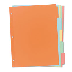 Avery Plain Tab Write-On Dividers, 5-Tab, 36 Sets, Multicolor