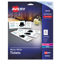 Avery Tickets with Tear Away Stubs
