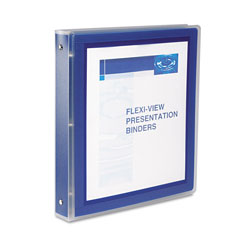 "Avery Flexi View 1"" View Binder, Blue"