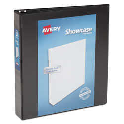 "Avery Showcase 1 1/2"" View Binder, Black"