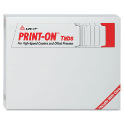 Avery 5-Tab Indexed Sheet Dividers, 3-Hole Punch, White