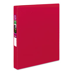 "Avery 45% Recycled Durable Round Ring Reference Binder, 1"" Capacity, Red"