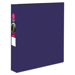 "Avery 45% Recycled Durable Round Ring Reference Binder, 1 1/2"" Capacity, Blue"