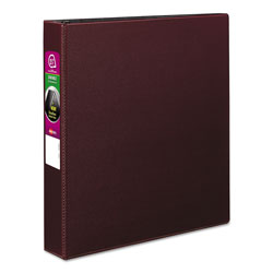 "Avery 45% Recycled Durable Round Ring Reference Binder, 1 1/2"" Capacity, Red"