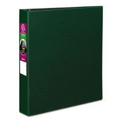 "Avery 45% Recycled Durable Round Ring Reference Binder, 1 1/2"" Capacity, Green"