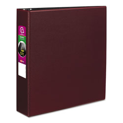 "Avery 45% Recycled Durable Round Ring Reference Binder, 2"" Capacity, Red"