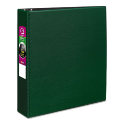 "Avery 45% Recycled Durable Round Ring Reference Binder, 2"" Capacity, Green"