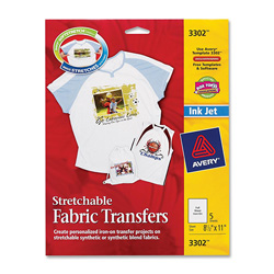 "Avery Light T-Shirt Iron On Transfers, 8 1/2""x11"""
