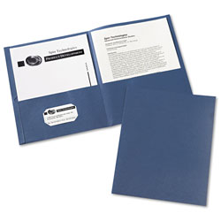 Avery Two Pocket Portfolio, Blue, Box of 25