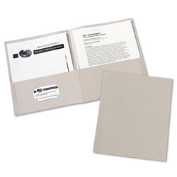 Avery Two Pocket Portfolio, Gray, Box of 25