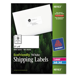 "Avery White Shipping Labels, 2"" x 4"""