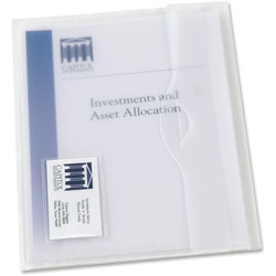 Avery Translucent Poly Document Wallets, Letter Size, Clear, 12 per Pack