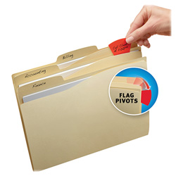 Avery Priority Flag File Folders, Manila