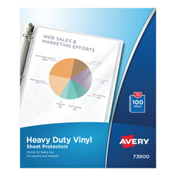 Avery Heavy Duty Vinyl Sheet Protectors, Clear, Box of 100