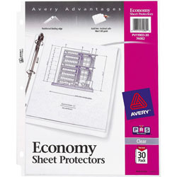 Avery Economy Clear Sheet Protectors, Acid-Free, Pack of 30