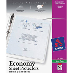 Avery Economy Semi-Clear Sheet Protectors, Acid-Free, Box of 50