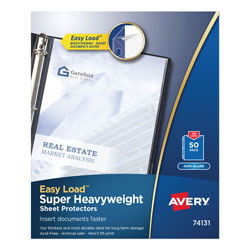 Avery Non-Glare Super Heavyweight Sheet Protectors, Box of 50