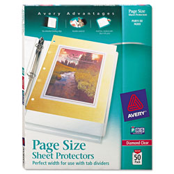 Avery Diamond Clear Page Size Sheet Protectors, Acid Free, Box of 50