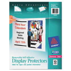 Avery Removable Self-Adhesive Display Protectors, Pack of 10