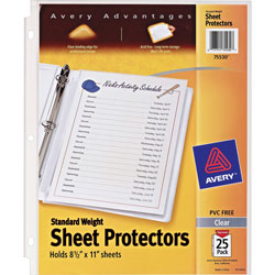 Avery Standard Weight Sheet Protectors, Pack of 25