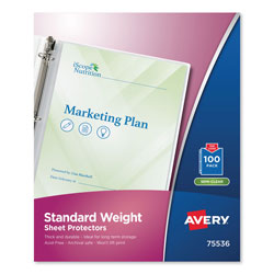Avery Standard Weight Sheet Protectors, Box of 100