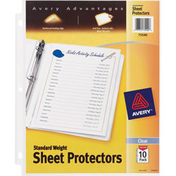 Avery Standard Weight Sheet Protectors, Pack of 10