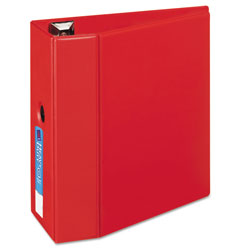"Avery 45% Recycled One Touch EZD™ Heavy Duty D Ring Reference Binder, 5"" Capacity, Red"