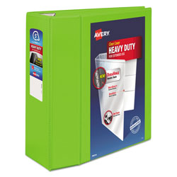 "Avery Heavy-Duty View Binder w/Locking EZD Rings, 5"" Cap, Chartreuse"
