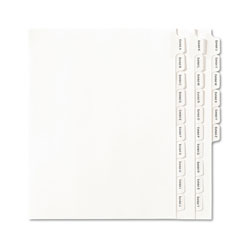 Avery Allstate Exhibit A-Z Side Tab Dividers, White