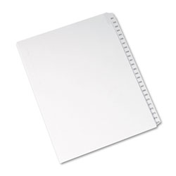 Avery Allstate Tab Titles 251-275 Side Tab Dividers, White