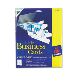 Avery Glossy Photo Quality Ink Jet Business Cards, 8 Cards/Sheet, 200 Cards per Pack