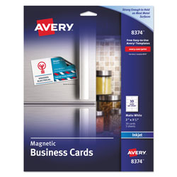 Avery Ink Jet Magnetic Business Cards, 10 Precut Cards/Sheet, 30 Cards per Pack