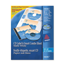 Avery cd dvd label jewel case insert combo sheets ink jet for Dvd jewel case insert template
