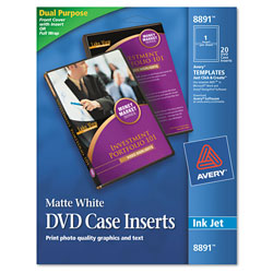 Avery DVD Case Inserts, Matte White, 20 Inserts