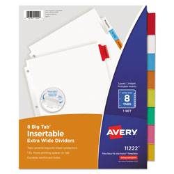 Avery Worksaver Big Tab White Paper Dividers, White