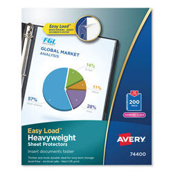 Avery Diamond Clear Top Loading Sheet Protector, Letter, Box of 200