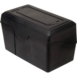 "Advantus Index Card Holders, 4""x6"", Black"