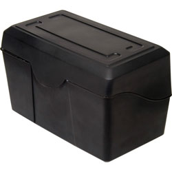 "Advantus Index Card Holders, 5""x8"", Black"