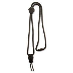 Advantus Executive Braided Lanyard, Breakaway Clasp, Plastic Swivel Hook, Black