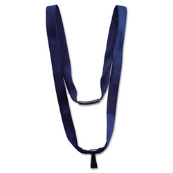 "Advantus Earth-Friendly Lanyard, J-Hook Style, 36"" Long, Blue, 10/Box"