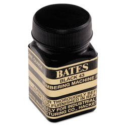Advantus Refill Ink for Numbering Machines, 1 oz Bottle, Black