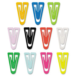 "Advantus Plastic Clips, Medium Size, Assorted Colors, 1"", 500/Box"