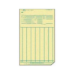 "TOPS Weekly Time Cards, 143lb., 3-4/5"" x 7"", Manilla"