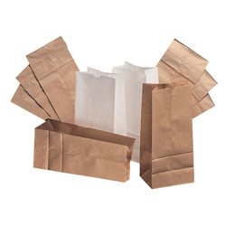 Paper Bags & Sacks 6# Bleached Paper Bag 500/Bundle